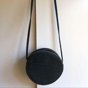 BAGGU Bags - BAGGU Black canvas circle crossbody bag